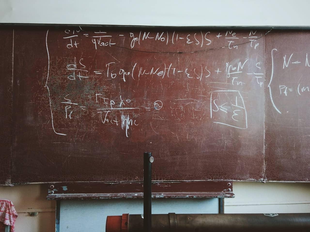 לוח מתמטיקה - מורה פרטי למתמטיקה